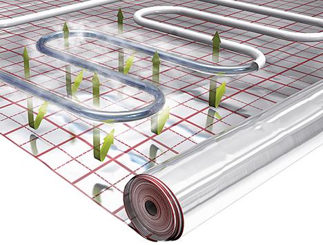 Folia podłogowa zapewnia równomierne rozprowadzanie ciepła